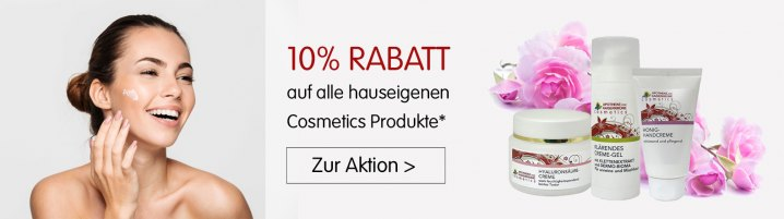 10% Cosmetics Aktion (Banner Online Shop)